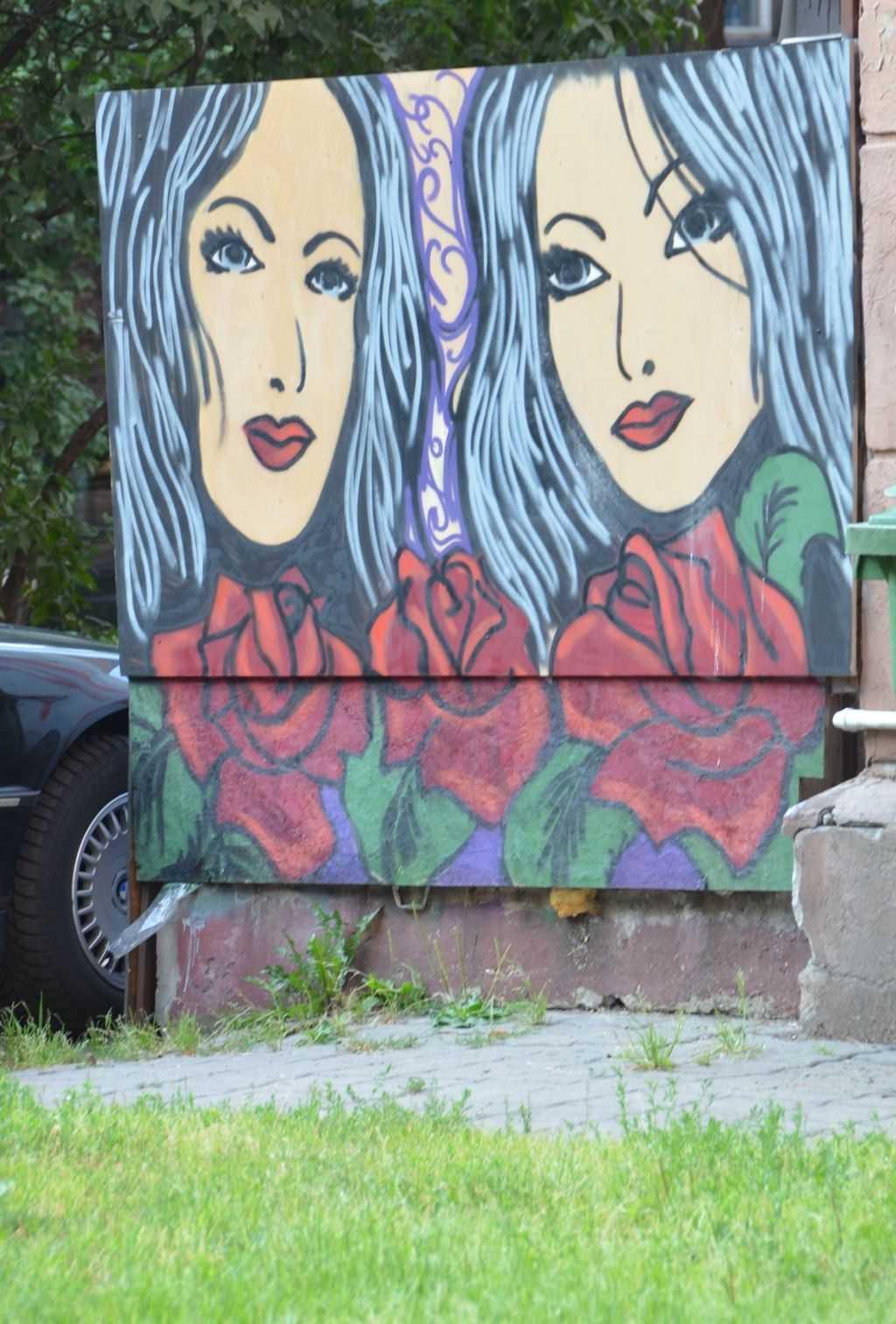 Riga'da yürüdükçe ilginç resimlerle karşılaştık…