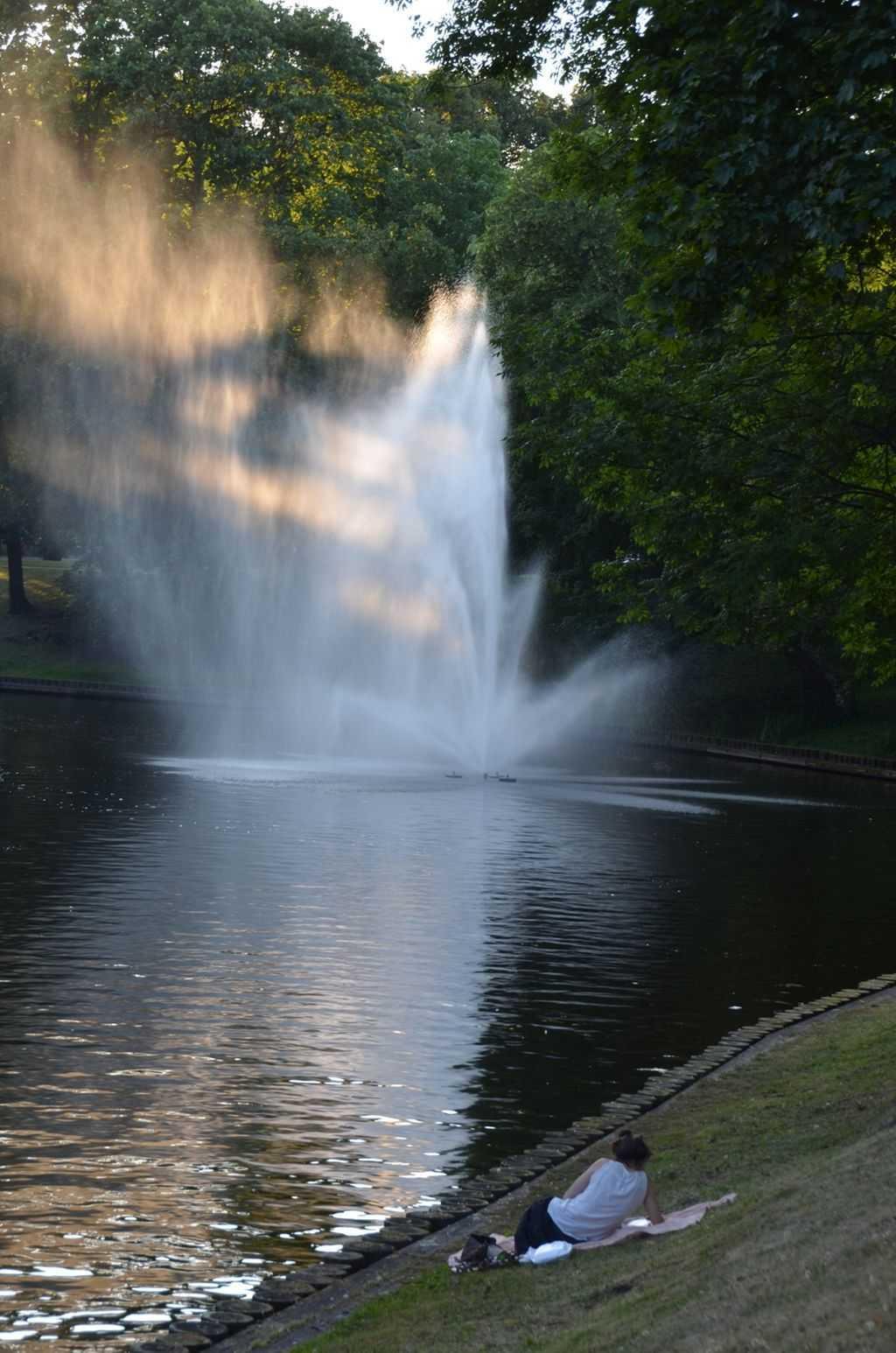 Parkta keyif yapan bir Letonyalı…