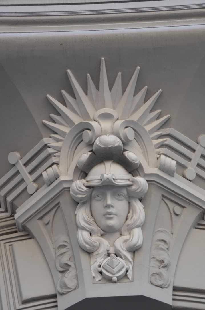 Elizabetes Iela 10b adresindeki Art Nouveau binadan bir detay… 1903, Mimar Mihails Eizenšteins…
