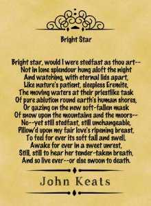 an analysis of two poems bright star by keats and ozymandis by shelly Online literary criticism for john keats main page keats and romanticism, themes in keats's major poems, keats's odes's keats-shelley journal 32 (1983.