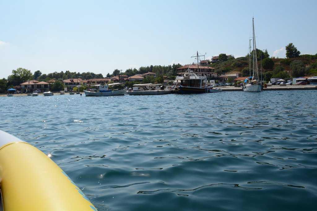 Diaporos Adası için Ormos'tan ayrılış...