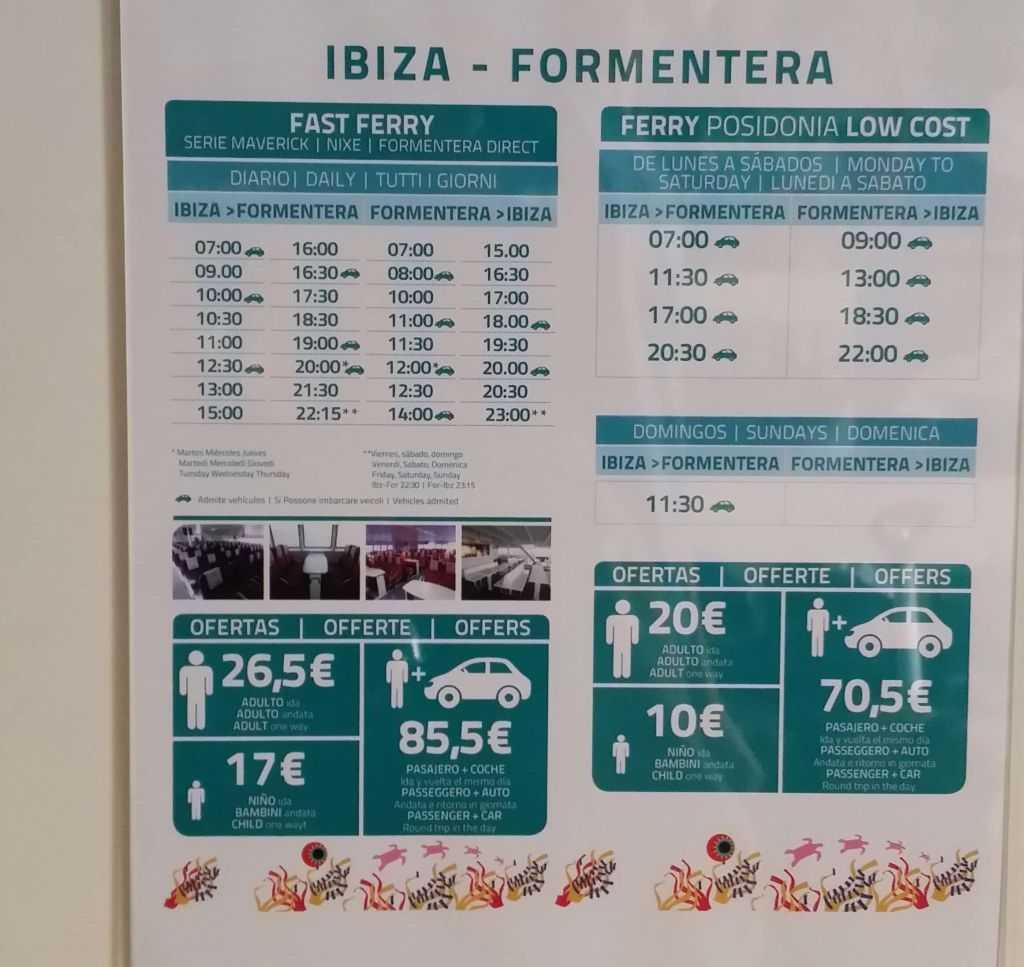 İbiza'dan Formentera'ya feribotlar...