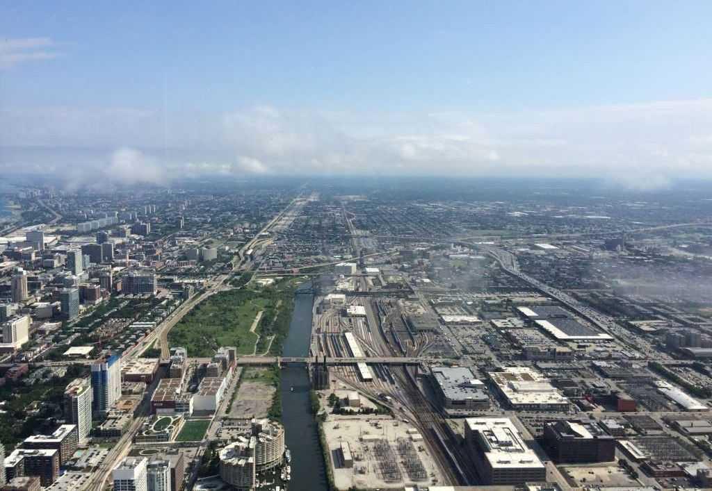 Willis Tower (Sears Tower)'dan Chicago manzarası
