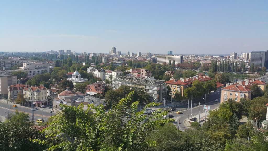 Plovdiv Nebet/Nöbet Tepe'den şehir manzarası...