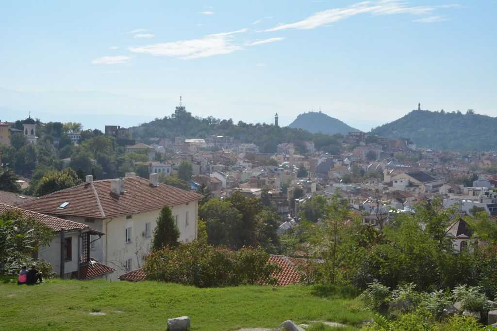 Plovdiv Nebet/Nöbet Tepe... Uzaktan Saat Tepe gözüküyor...