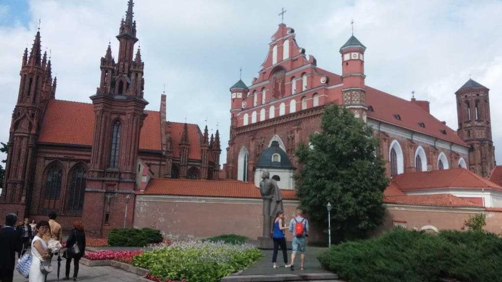 St. AnnesKilisesi Vilnius , Litvanya
