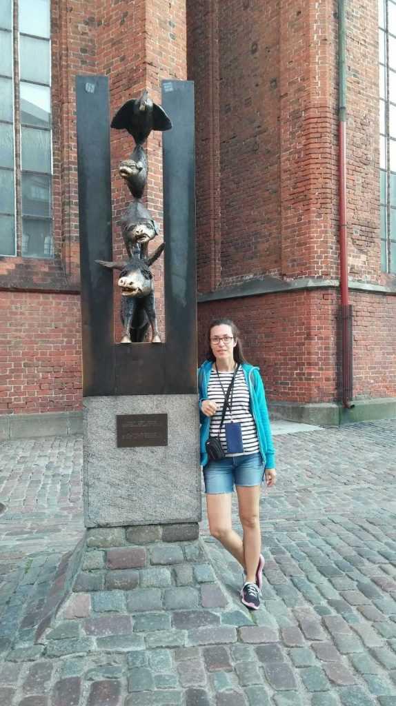 St.Peter Kilisesi Bremen Mızıkacıları Heykeli Riga ,Letonya
