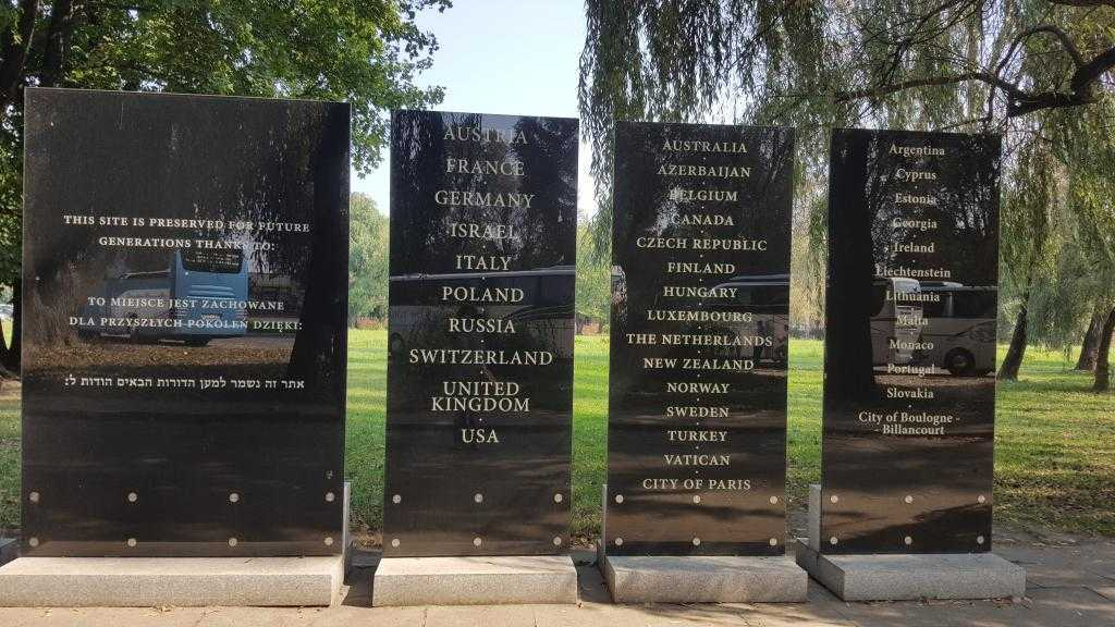 Auschwitz Müzesine katkılarından dolayı teşekkür edilen ülkeler