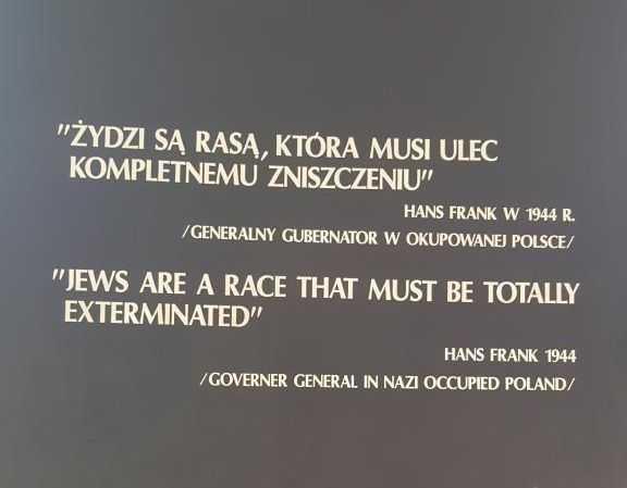 """""""Yahudiler tamamen yok edilmesi gereken bir ırktır."""" - Hans Frank (Nazi işgalindeki Polonya'nın valisi)"""