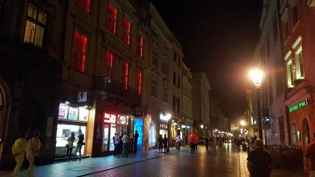 Krakow geceleri