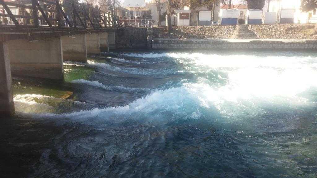 Kara Drim Nehri'nin Ohri Gölü'nden doğduğu yer, Struga, Makedonya