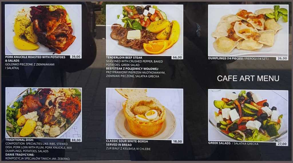 Cafe Art Menu